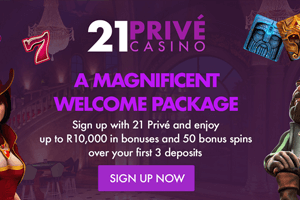 21Prive Online Casino in ZAR
